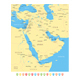 Middle East and Asia Map. Yellow Illustration. - GraphicRiver Item for Sale