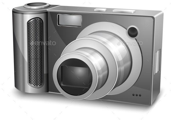 Silver Photo Camera - Landscapes Nature