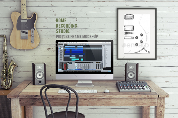 Home Recording Studio Mock-Up - Product Mock-Ups Graphics