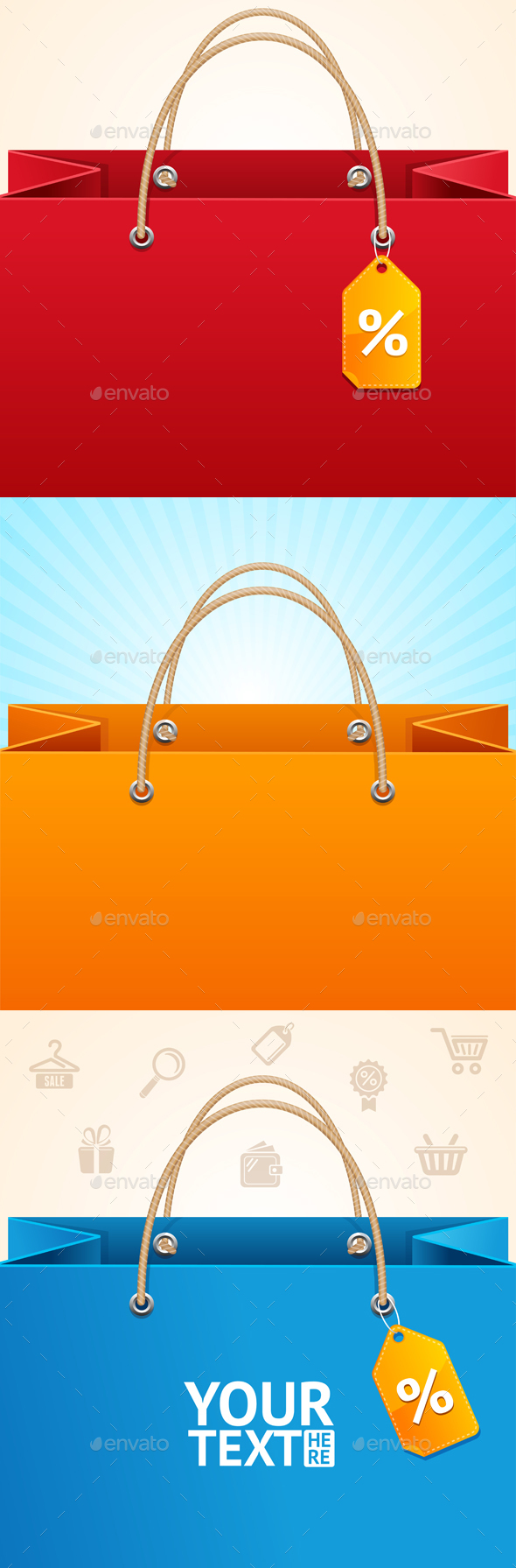 Paper Bag Background Sale - Retail Commercial / Shopping