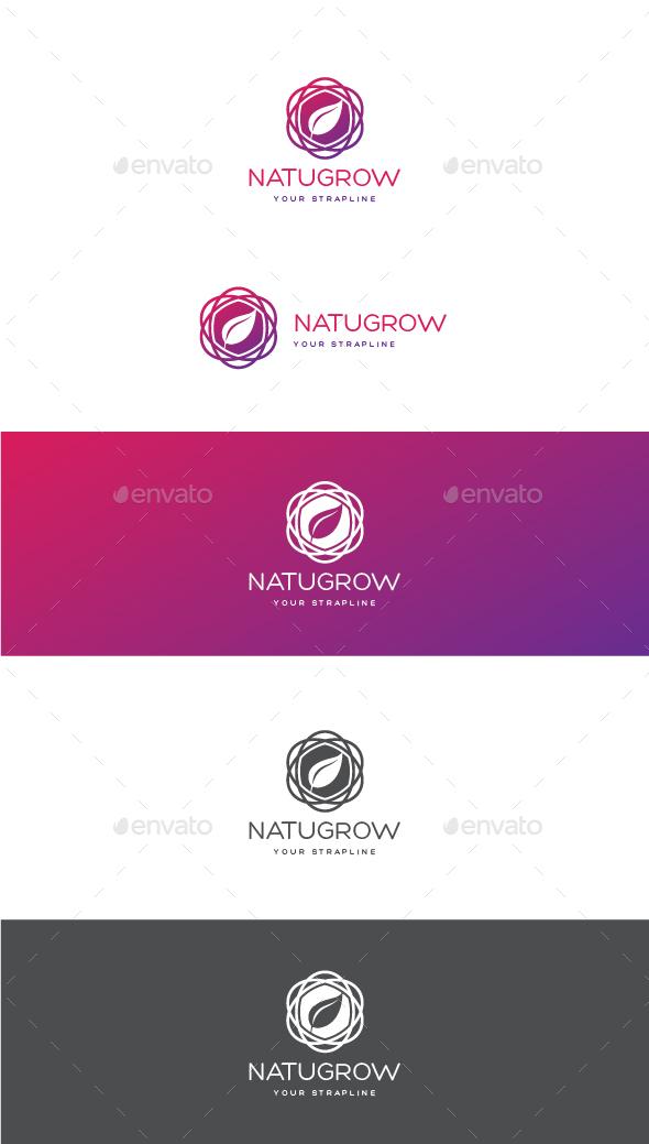 Natugrow Logo - Nature Logo Templates
