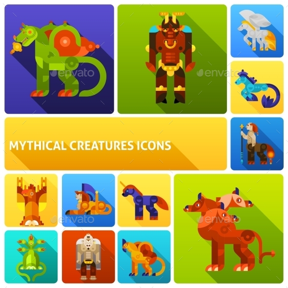 Mythical Creatures Icons Set - Miscellaneous Characters