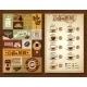 Vintage Coffee Menu 2 Banners Board