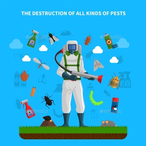 Pest Control Concept - Animals Characters