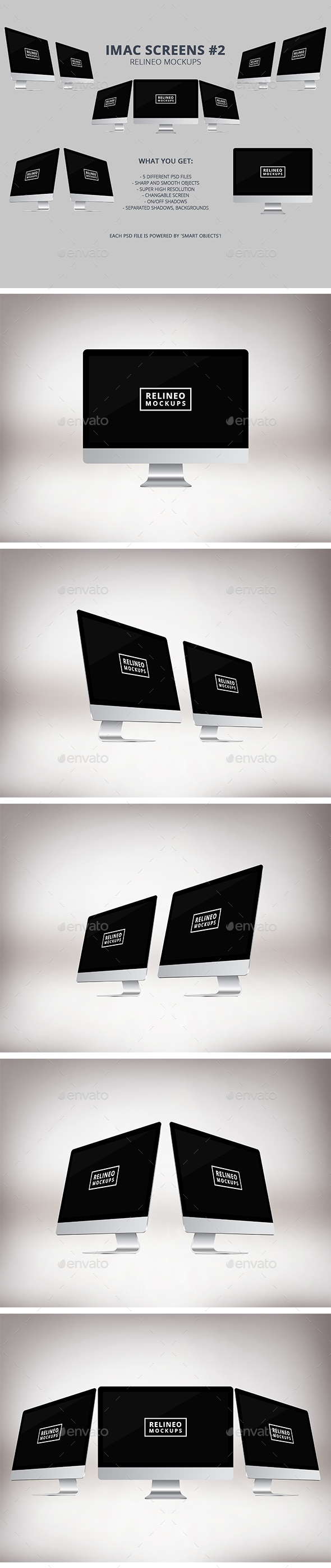 Apple iMac Display Mock-up Pack Vol.2 - Monitors Displays