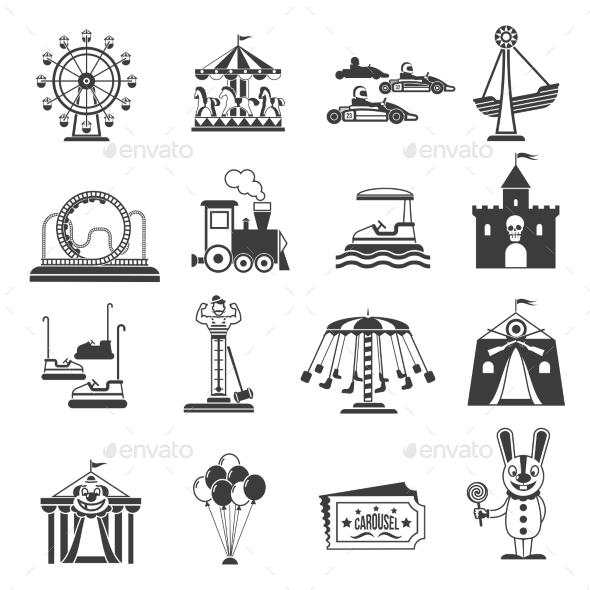 Amusement Park Icons - Miscellaneous Conceptual