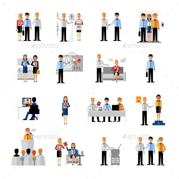 Business People Workplace Set - Decorative Symbols Decorative