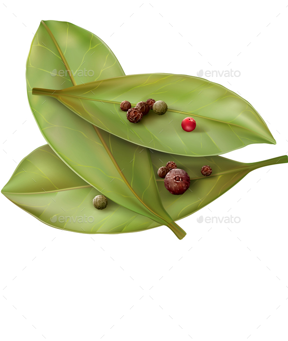 Bay Leaves and Pepper - Food Objects
