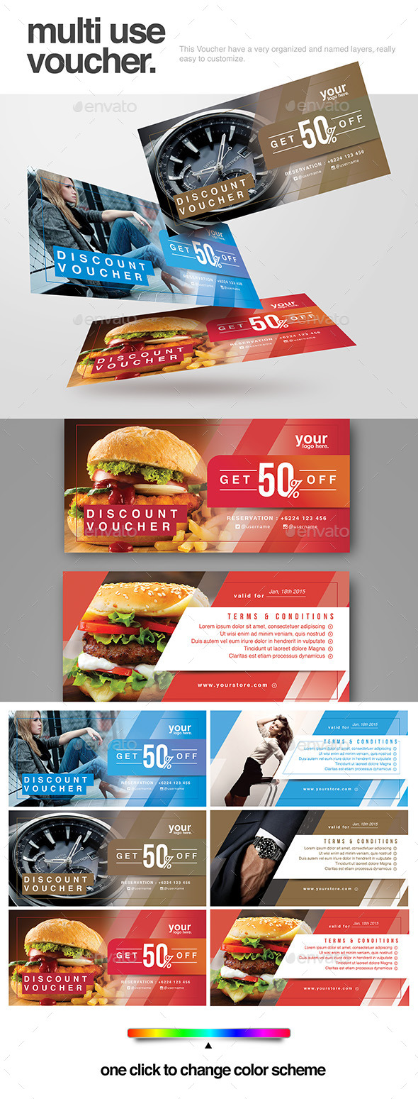 Multi use Voucher - Loyalty Cards Cards & Invites