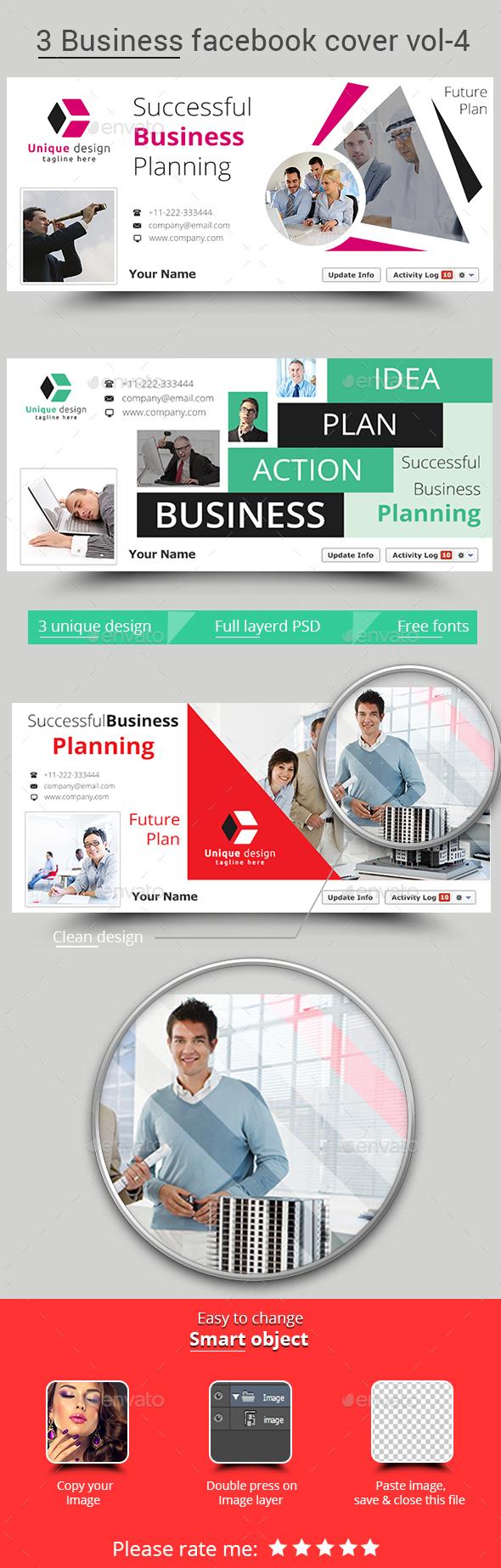 3 Business Facebook Cover Vol-4 - Facebook Timeline Covers Social Media