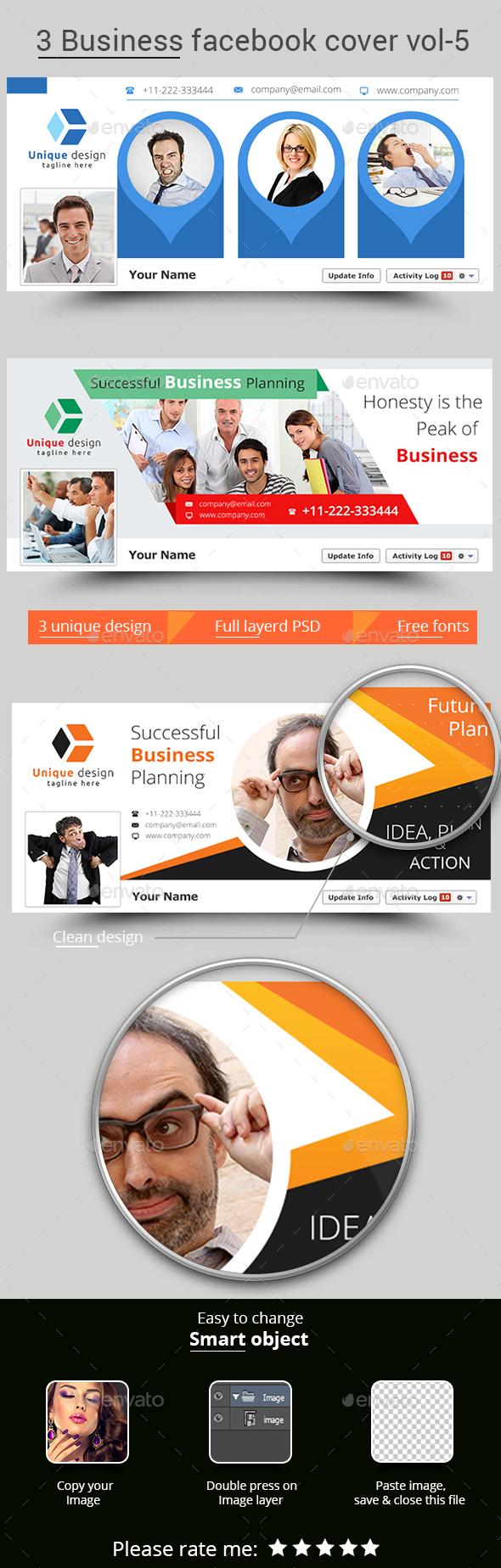 3 Business Facebook Cover Vol-5 - Facebook Timeline Covers Social Media