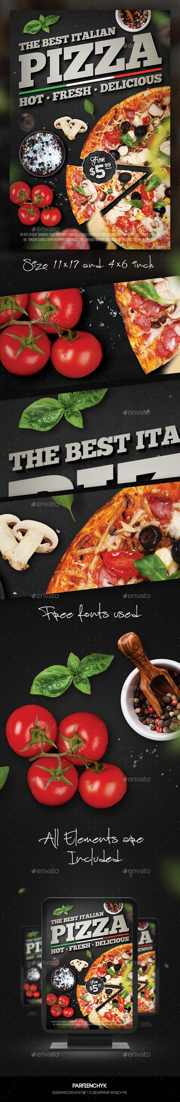 Pizza Flyer Template - Restaurant Flyers