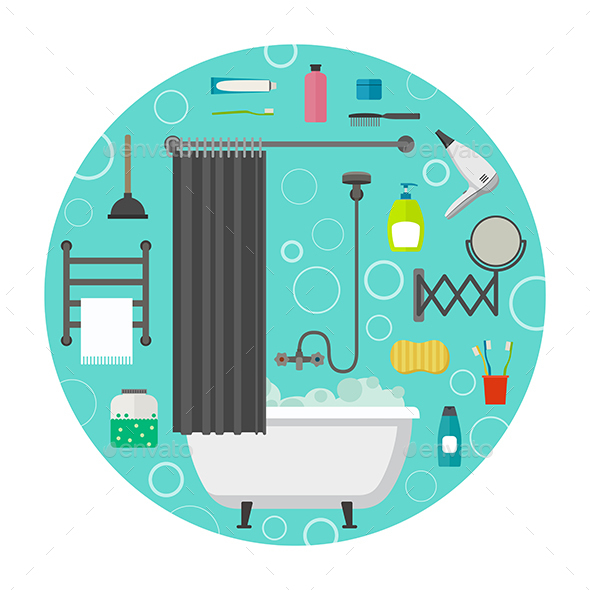 Hygiene Icons - Man-made Objects Objects