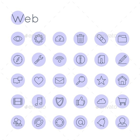 Vector Round Web Icons - Web Icons