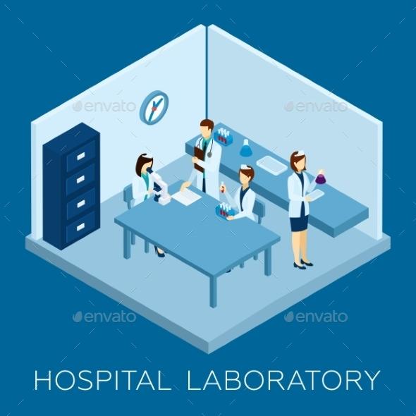 Hospital Laboratory Concept - Health/Medicine Conceptual