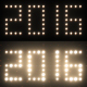 2016 New Year Text Lights