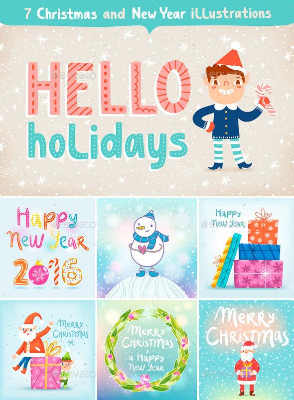 Hello Holidays pack - Christmas Seasons/Holidays