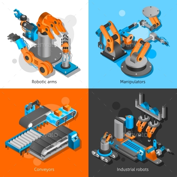 Industrial Robot Set - Abstract Conceptual
