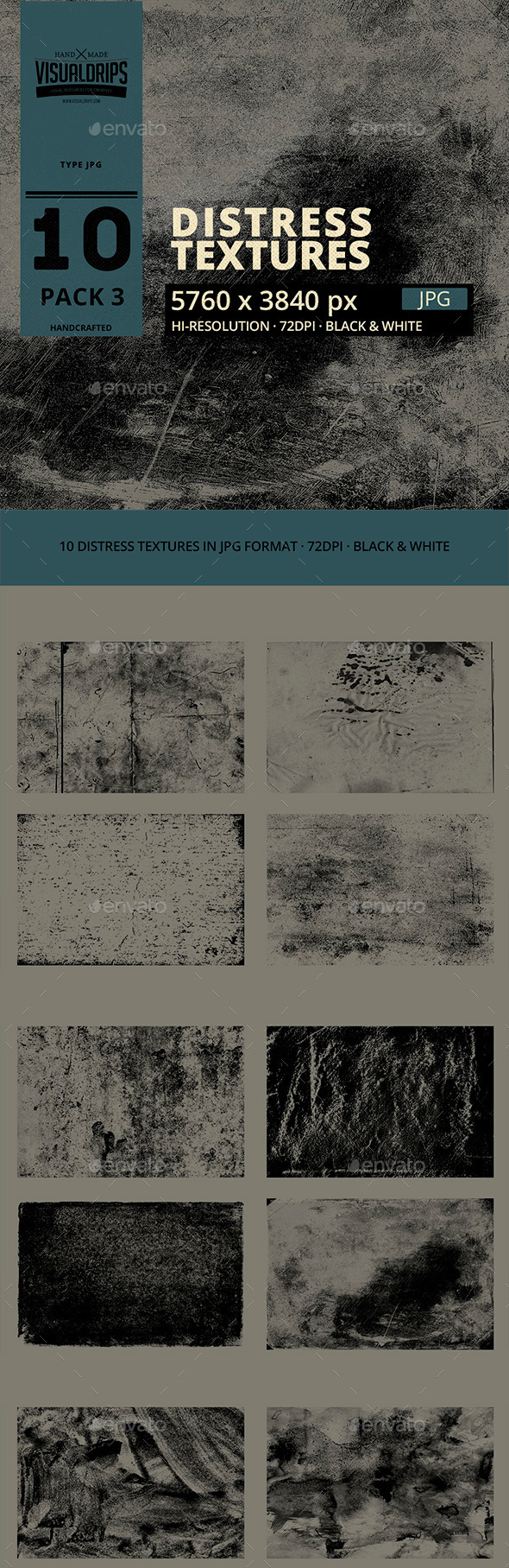 Distress Texture Pack-03 - Industrial / Grunge Textures