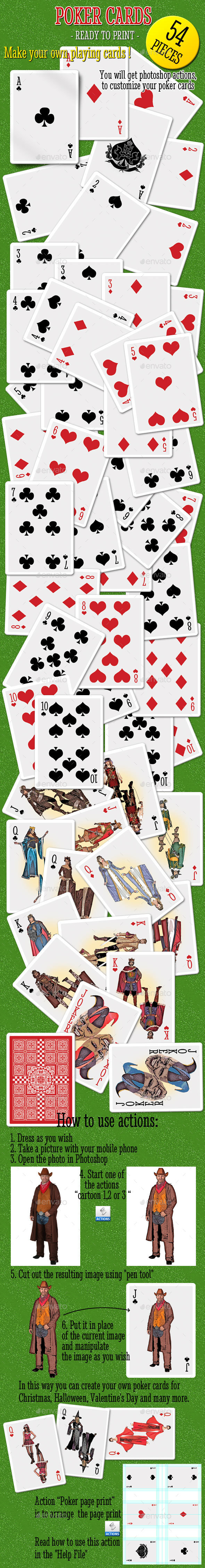 Poker Cards - Cards & Invites Print Templates