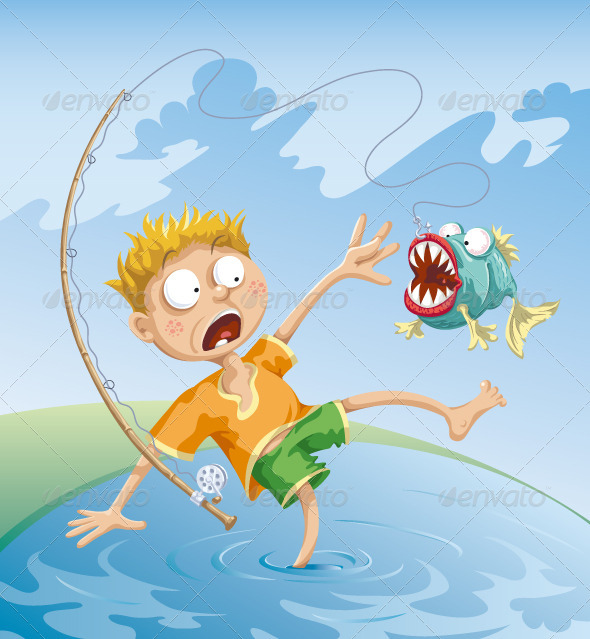 Horrible Fishing Accident - People Characters