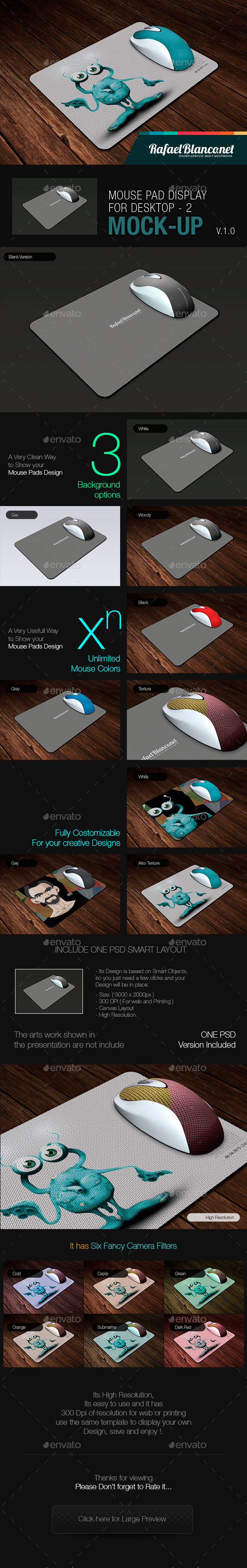 Mouse Pad Mock-Up - 2 - Miscellaneous Displays