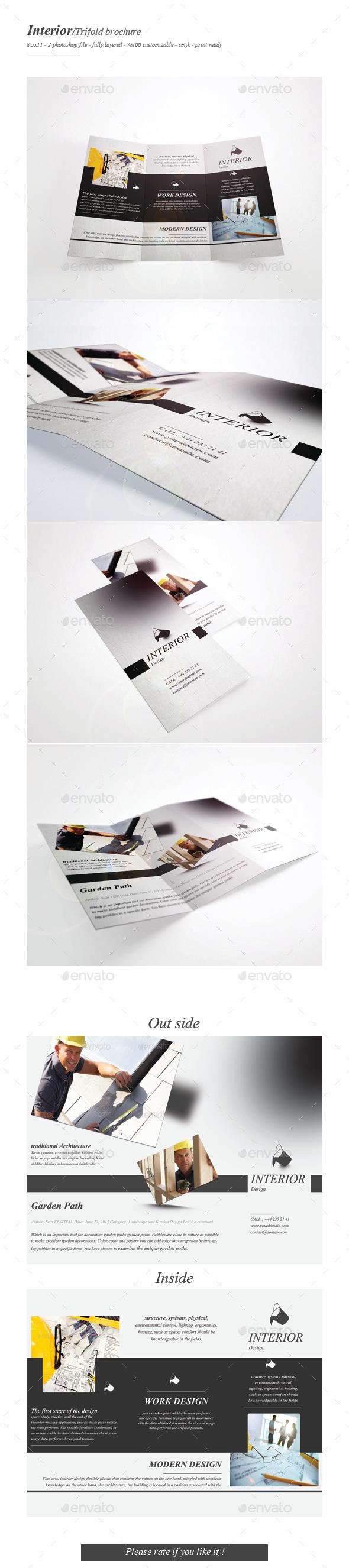 Interior Tri-fold Brochure - Brochures Print Templates