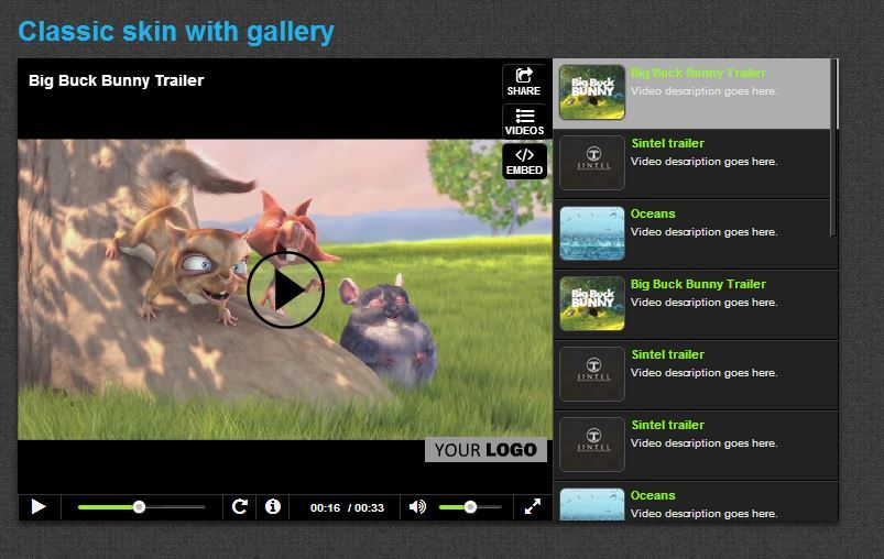 Ultimate video player with youtube vimeo html5 ads by for Html5 video player template