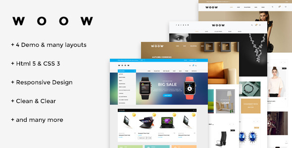 WOOW – HTML eCommerce Template