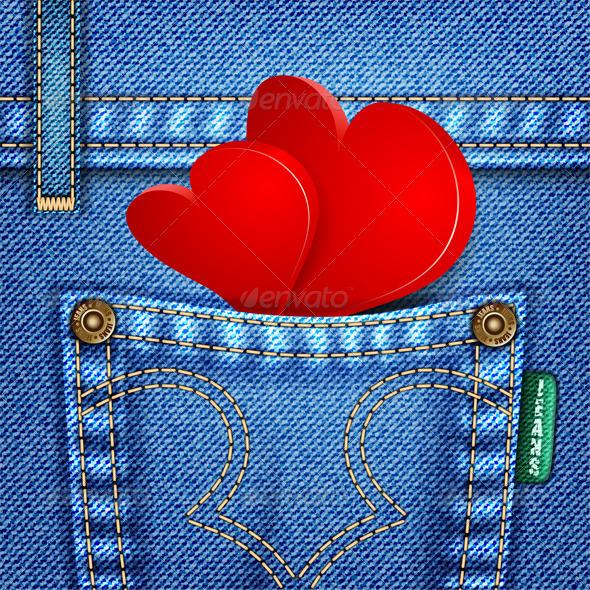 Valentine Jeans Texture - Valentines Seasons/Holidays