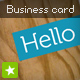 Designer business card - plywood style - GraphicRiver Item for Sale