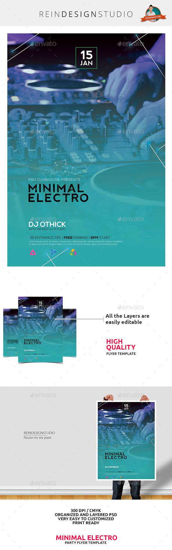 Minimal Electro - Events Flyers