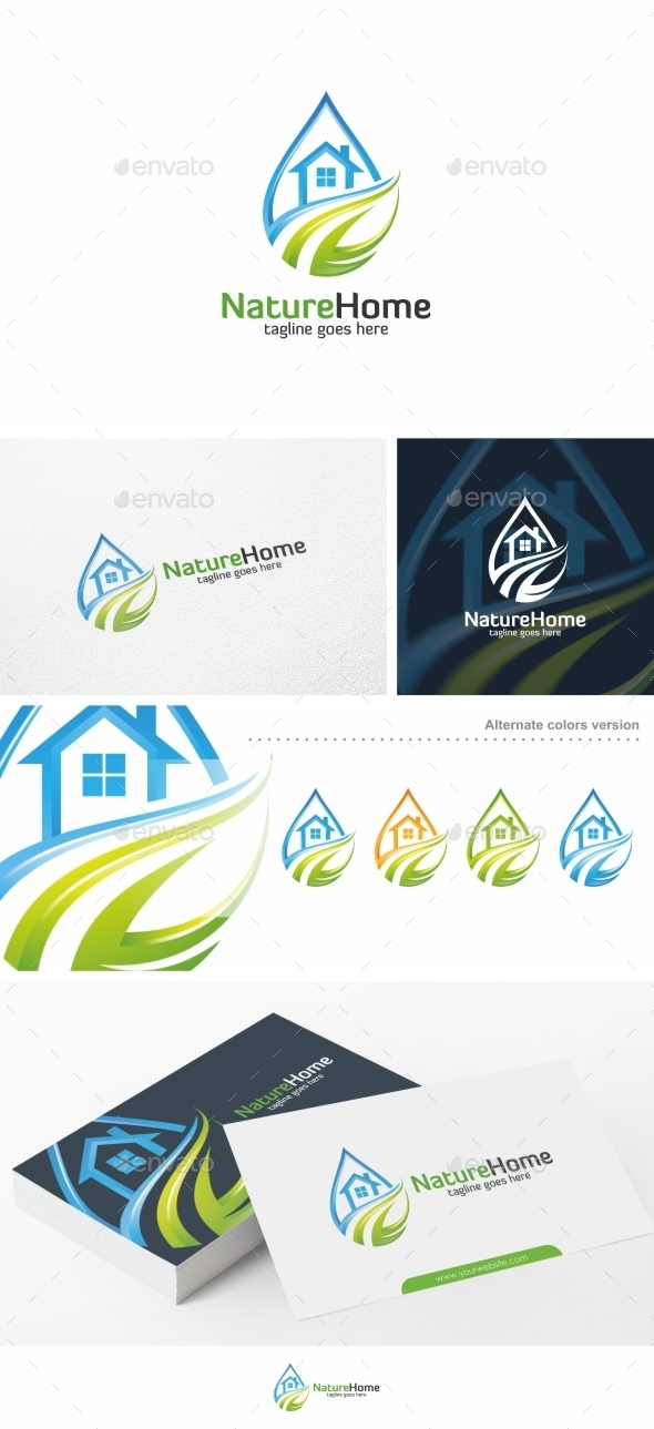 Nature Home / House - Logo Template - Buildings Logo Templates