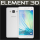 Element 3D Samsung A5 White - 3DOcean Item for Sale