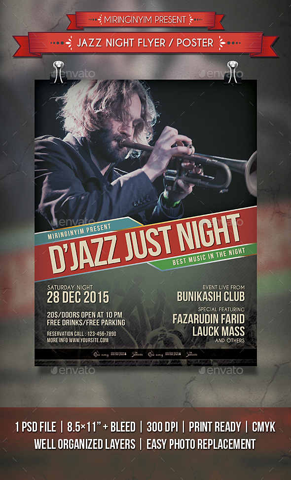 Jazz Night Flyer / Poster - Clubs & Parties Events