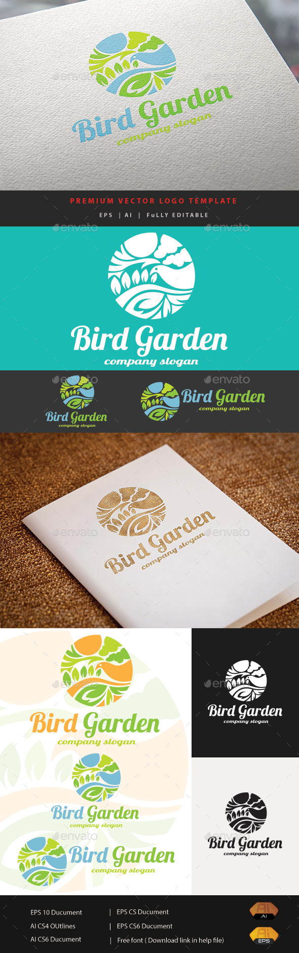 Bird Garden - Animals Logo Templates