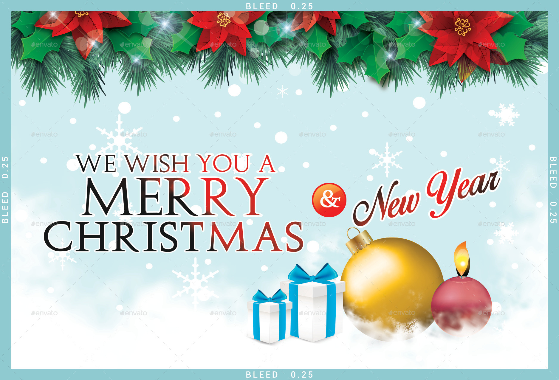 Christmas Post Cards - 5 Designs by doto | GraphicRiver