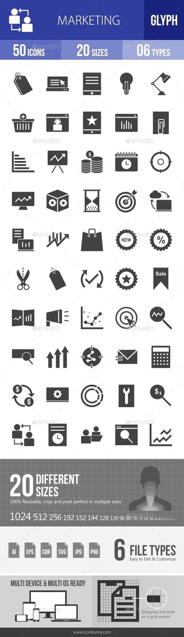 Marketing Glyph Icons - Icons