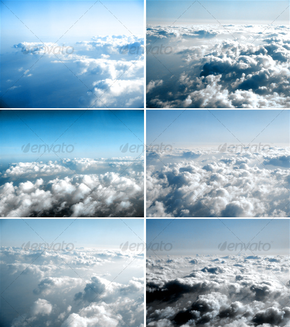 Fly over the sky - Clouds background images - Nature Backgrounds
