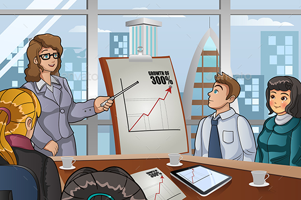 Business People in a Meeting - Business Conceptual