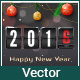 New Year Greetings Card with Scoreboard - GraphicRiver Item for Sale