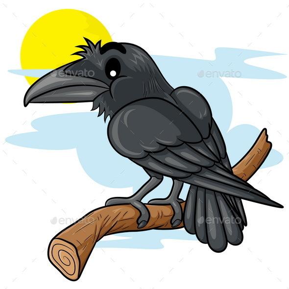 Raven Cartoon - Animals Characters