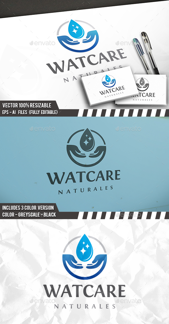 Water Care Logo - Nature Logo Templates