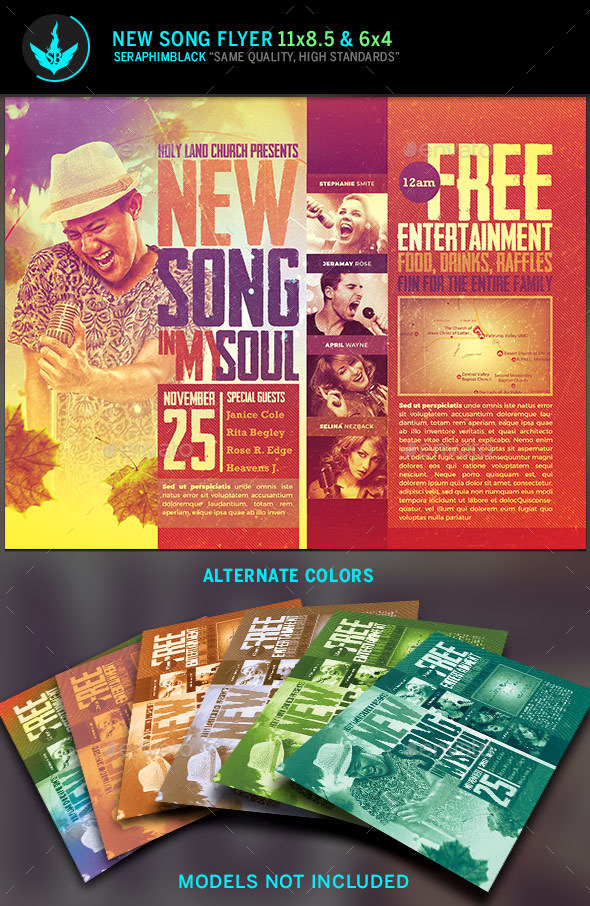new song gospel concert flyer template church flyers