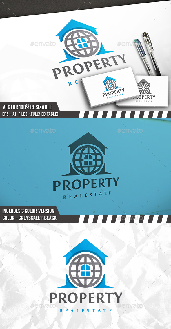 Real Estate World Logo - Buildings Logo Templates