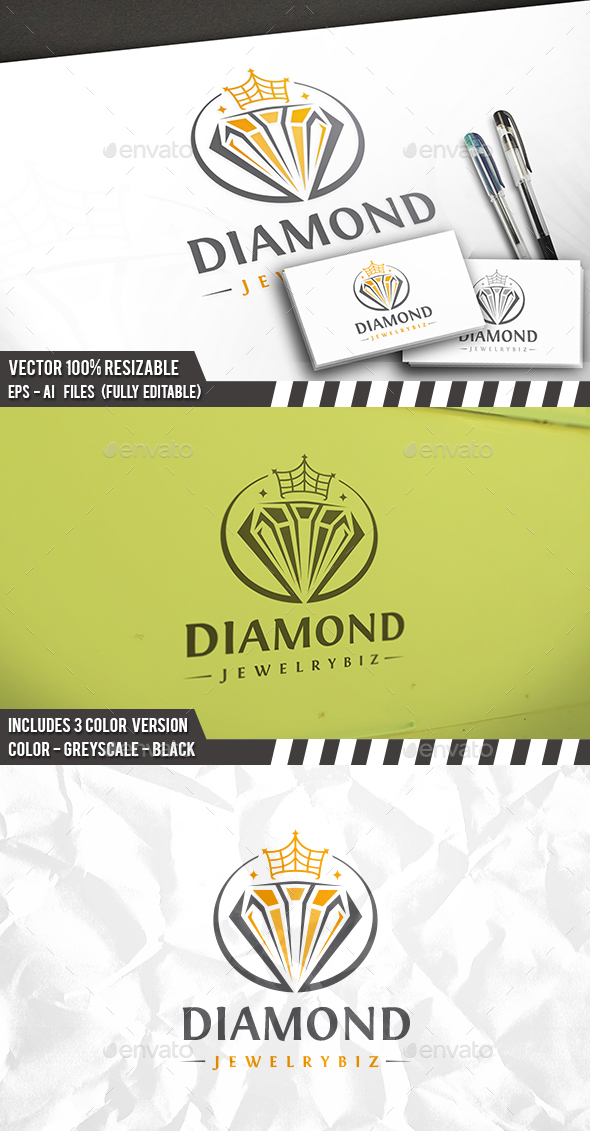 Jewel King Logo - Symbols Logo Templates