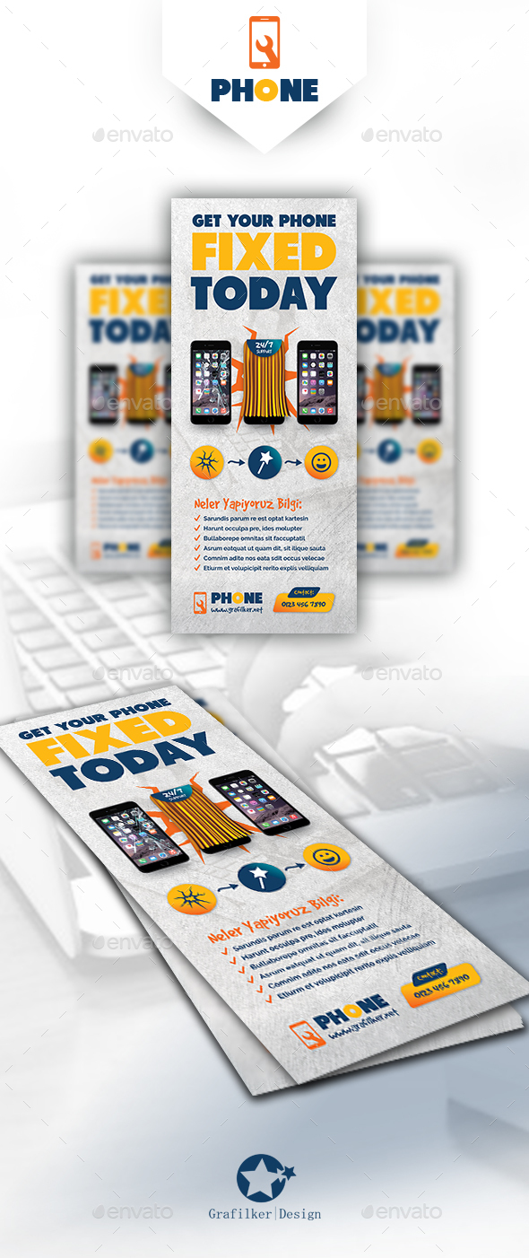 Phone Repair Roll-Up Templates - Signage Print Templates
