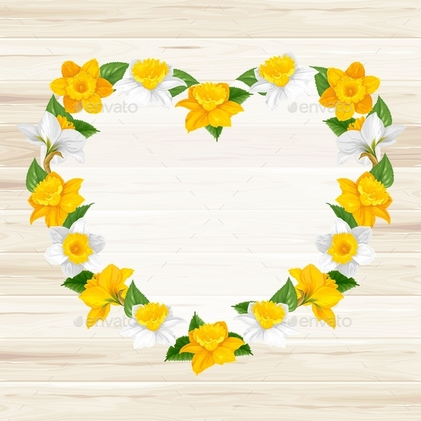 Heart Of Spring Flowers - Decorative Vectors