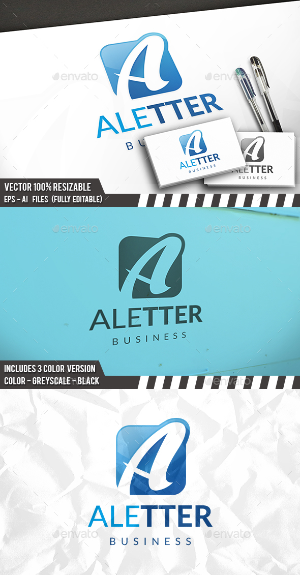 A Letter Modern Logo - Letters Logo Templates