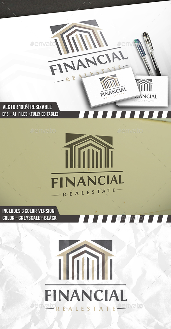 Real Estate Classic Logo - Buildings Logo Templates